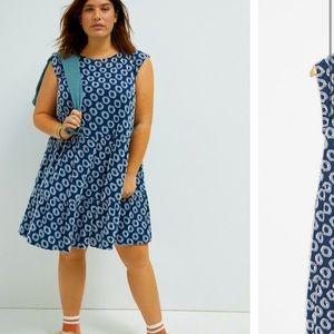 Anthropologie NWT Lisanne Textured Tunic Dress XL.
